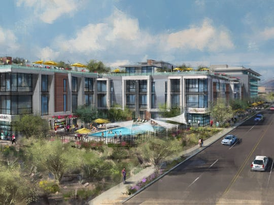 """SoHo Scottsdale, the project, stands for """"small office, home office."""" The proposal has been referred to at meetings with city officials as Bahia Work Live Play Project."""