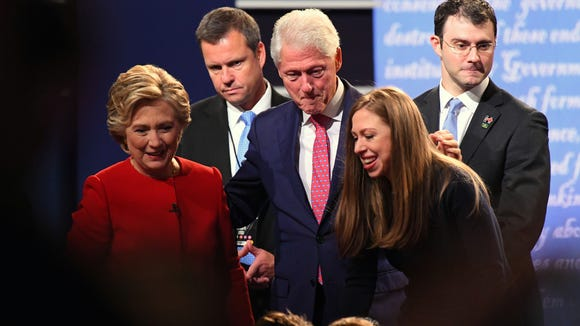Chelsea Clinton's reaction to Trump's hints? Pretty much