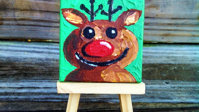 Artist Diane Dyal will have mini paintings for sale at the LeMoyne Holiday Show