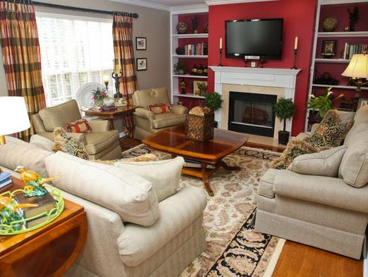 An overview of the living room area on the main floor of Kim Morton's Brownsboro Road area home. July 10, 2014