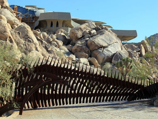 The iconic Beverly Doolittle home in Joshua Tree by architect Kendrick Bangs Kellogg is up for sale. Photo taken on Friday, December 6, 2013.