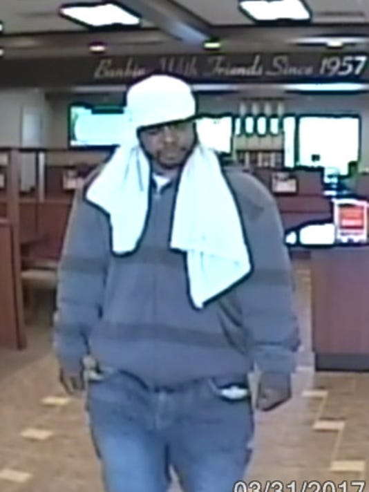 Collierville bank robbery suspect.