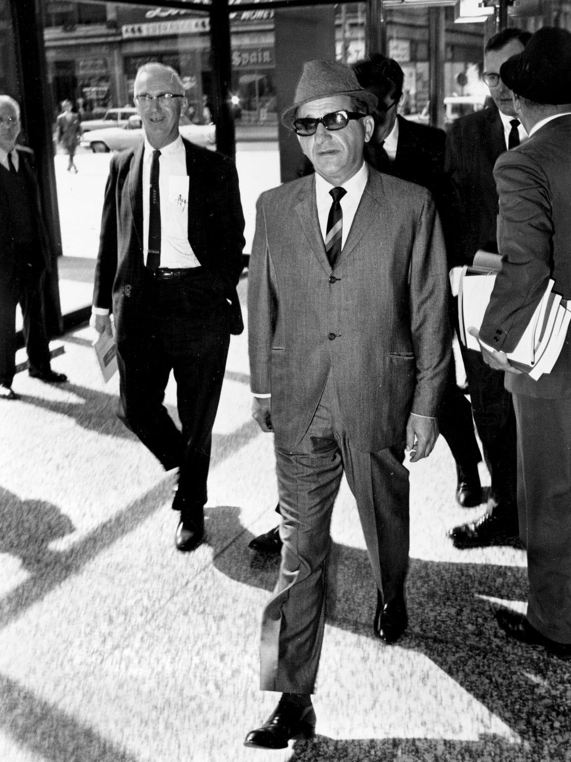 "Sam Giancana, organized crime boss known as ""Momo,"""