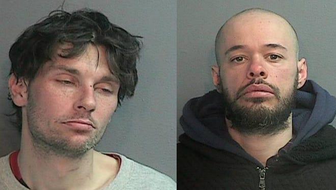 Nicholas J Theobald, 32, of Wayne, at left, andDwight K Torres, 29, of Saddle Brook.