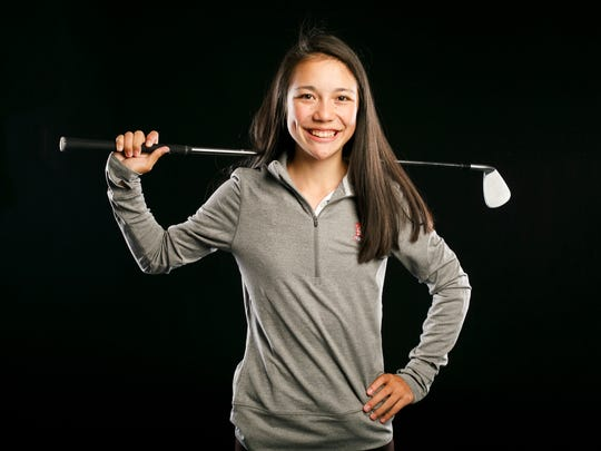 South Salem golf player Ashley Zhu for the Statesman Journal Sports Awards on Friday, April 5, 2017.