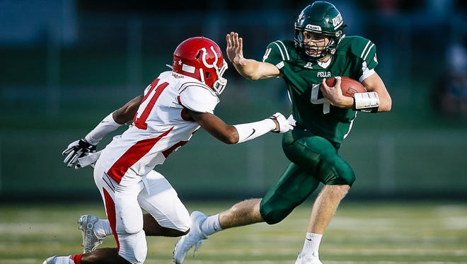 Pella's Nick Finney is one of the Register's All-Iowa Player of the Year finalists for football.