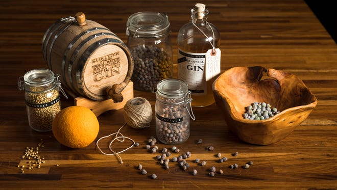 Kurt Cyr makes his own gin with foraged juniper berries and a two-part infusion process.