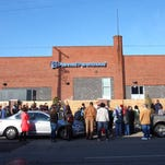 Anti-abortion advocates gathered Saturday at the Planned Parenthood clinic on South Seventh Street in Louisville.