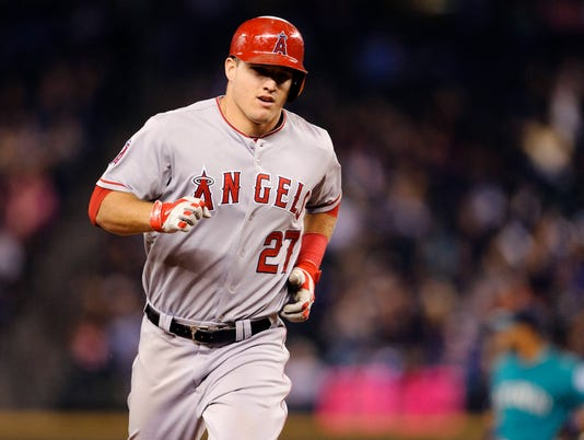 USP MLB: LOS ANGELES ANGELS AT SEATTLE MARINERS S BBA USA WA