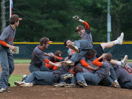 Pascack Hills baseball celebrates an extra innings
