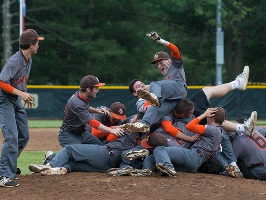 Pascack Hills baseball celebrates an extra innings