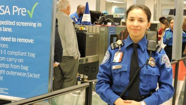 Eastchester resident Jovanna Mendez, pictured at LaGuardia Airport, has been named TSA Officer of the Year. She worked at Westchester County Airport until July and is now assigned to LaGuardia  Airport as a behavior detection officer.
