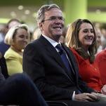 Jeb Bush campaigns in Des Moines, Iowa, on Jan. 27, 2016.