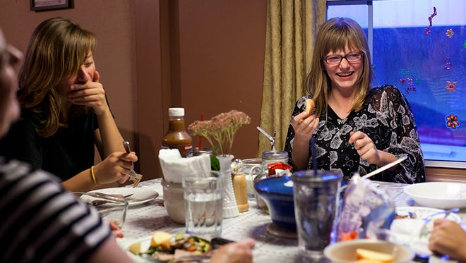 Eating together as a family at least one meal a day is one of the four golden rules of a healthy eating philosophy.
