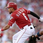 Reds lose Hamilton to oblique injury, fall to Cardinals