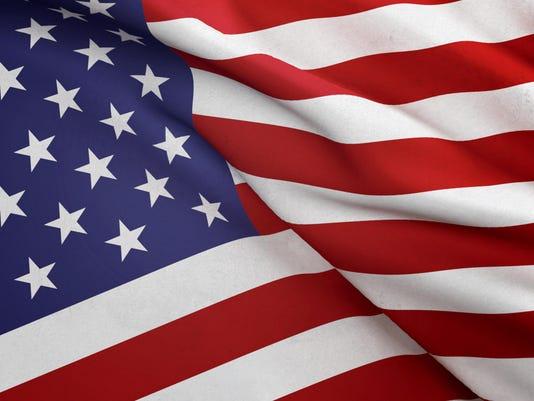 Close Up Waving American Flag