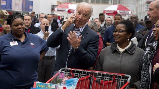 Vice President Joe Biden during a Nov. 29, 2012 shopping trip at Costco in Washington, D.C.