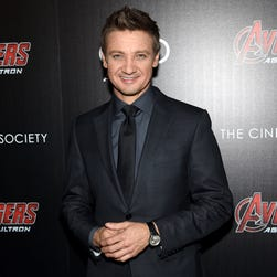 Jeremy Renner at a screening of 'Avengers: Age of Ultron' on April 28.