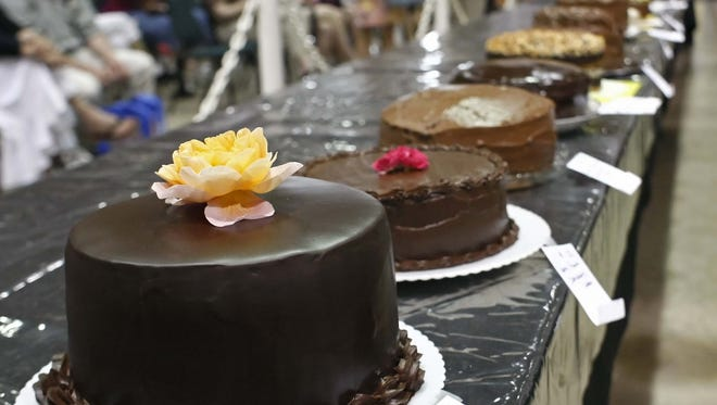 The Gerry Frank Chocolate Layer Cake Contest, a fair feature, takes place at Noon Sept. 4.