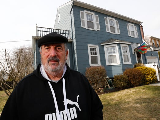 Leonard Verrastro, 67, in front of his home in Larchmont on March 25, 2014.