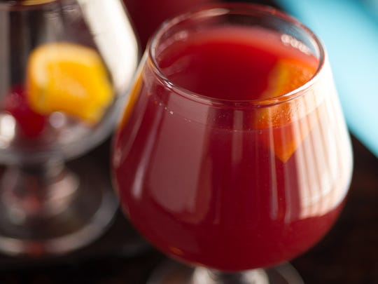 Salena's red sangria is served by the glass or the