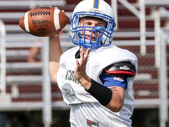 Brian Oblachinski (Cranford High School) throws for