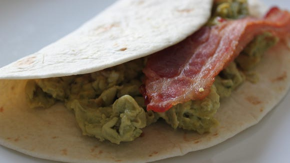 """Green (Chile) Eggs and Ham from """"Back to the Kitchen."""""""