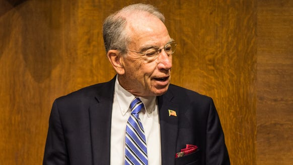 Sen. Chuck Grassley, R-Iowa, waits for the start of