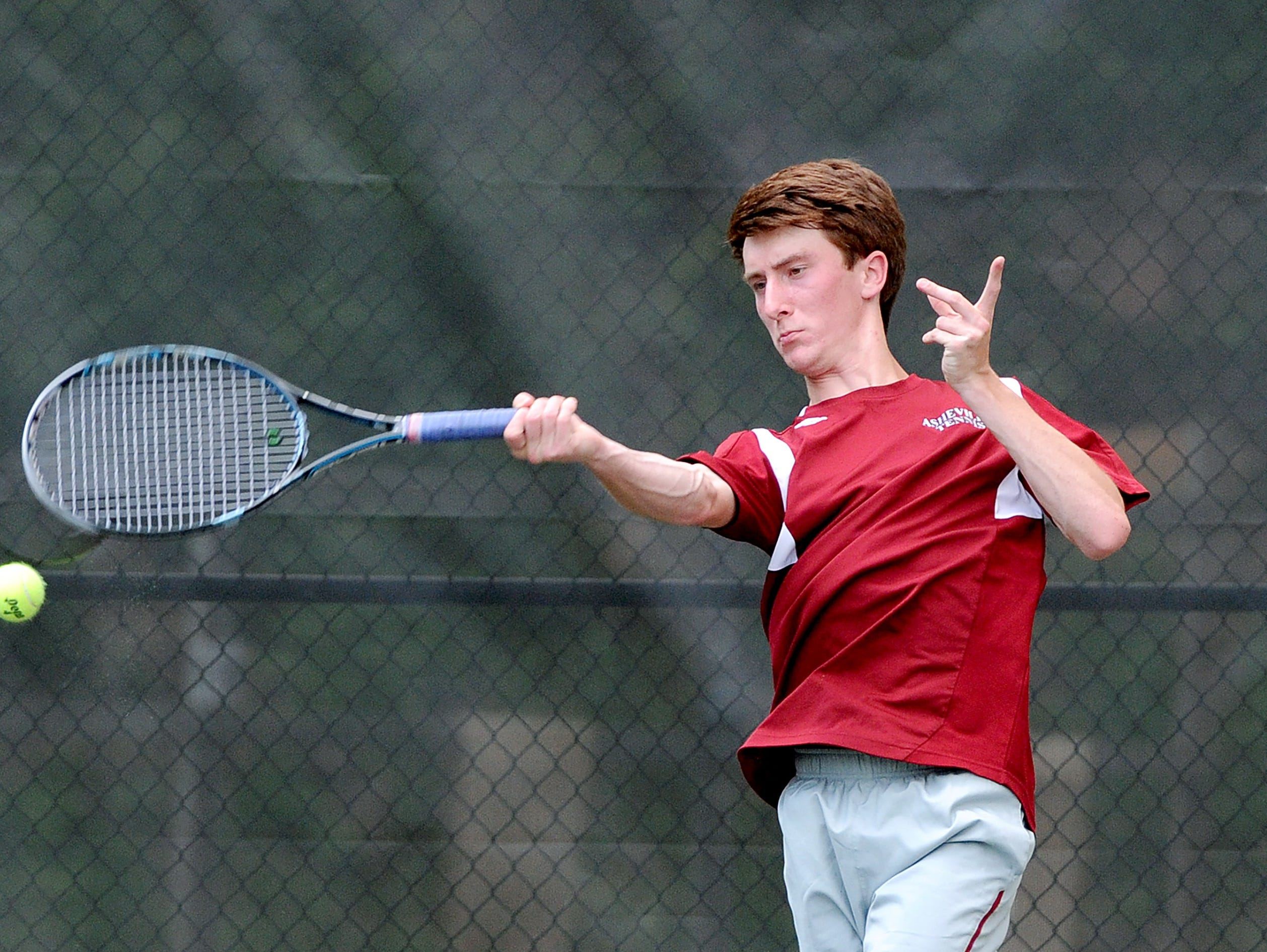 Asheville High rising sophomore Ryan Roegner was named to the Citizen-Times All-WNC Boys Tennis team last month.