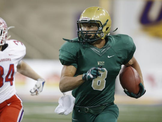 Oliver Martin, WR, Iowa City West: A two-time all-state