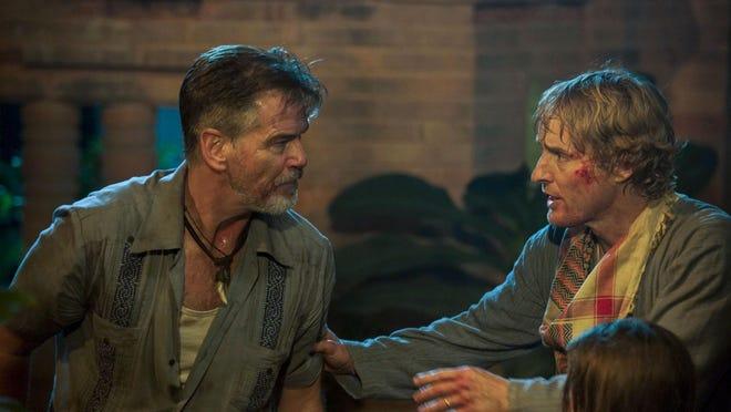 "Pierce Brosnan and Owen Wilson star in ""No Escape."""