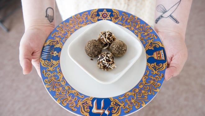 Chocolate truffles made for Passover use avocados instead of dairy. CALEB KENNA/for the FREE PRESS