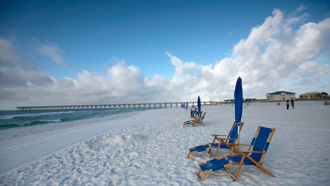 The sugar-white sands of Pensacola Beach, located on a Gulf of Mexico barrier island outside the city in Escambia County, provide a respite for New Yorkers sick of snow.