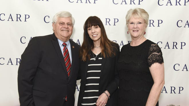 Mike Gauger, Mackenzie Phillips and Phyllis Gauger