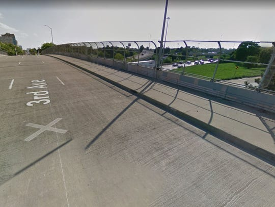 Third Street overlooking I-94.
