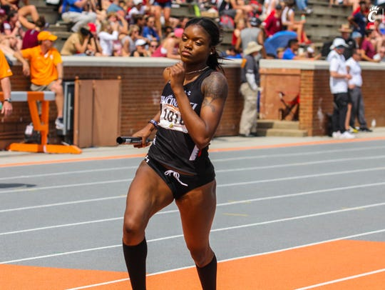 University of Cincinnati sprinter Tiona Lattimore (Hughes