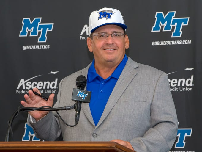 Jim Toman is introduced as the 22nd MTSU baseball coach.