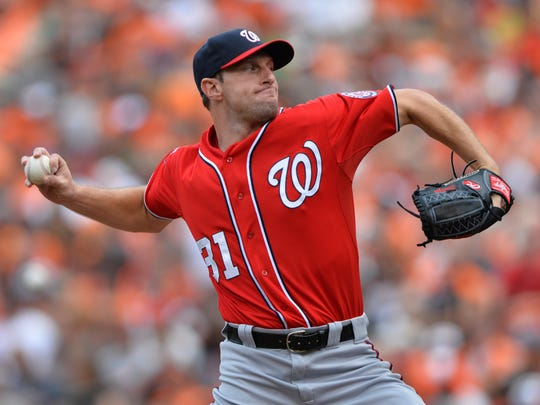 Max Scherzer is tied for 2nd in the NL with a 2.11 ERA.