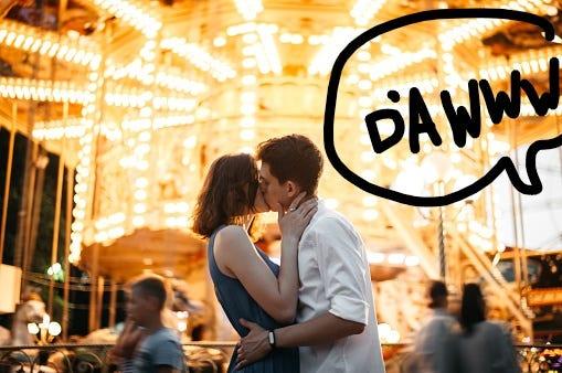 Dating but no kissing