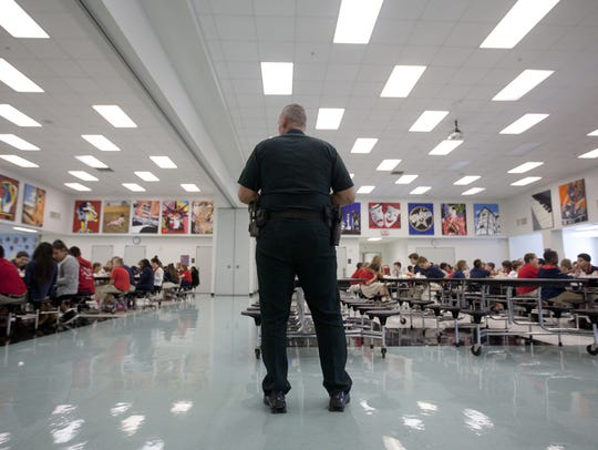 A school resource officer with the Lee County Sheriff's