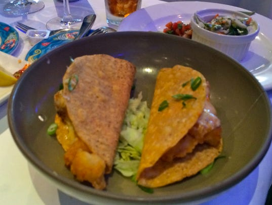 Crispy fish tacos at USS Nemo.JPG