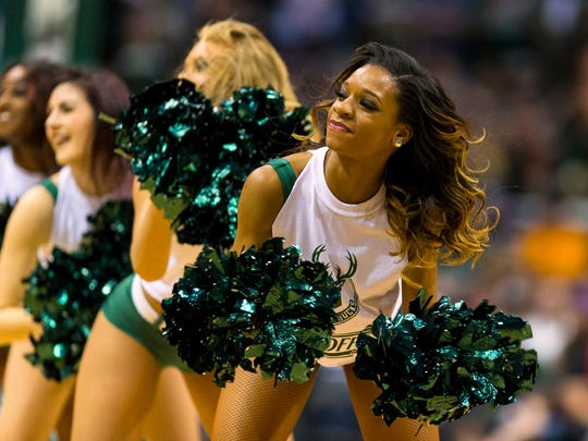 The Milwaukee Bucks Dancers perform during the fourth