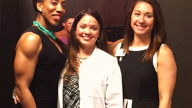 Laticia Jackson, Dr. Jennifer Payne and Briana Wigley, of West Florida Hospital, each believe in the importance of taking steps to keep fit and look forward to teaming up again to provide more useful information to the community.