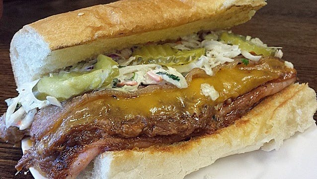 The Aporkalypse sandwich at Walt's Sandwich Place, 10600 W. Blue Mound Road, Wauwatosa. The ownership recently changed at the shop, the former Picnic Basket