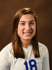 Cedar Crest volleyball player and Captain Grace Miller, who was also named L-L League First Team All-Star, has helped lead the Falcons in their memorable season.