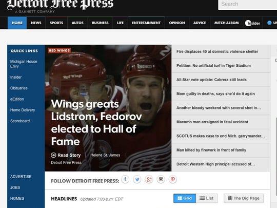 The Freep.com website