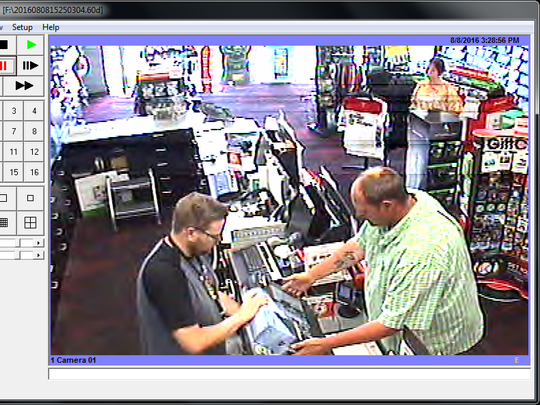 The man in the green shirt is believed to have stolen property from a Newark business Monday afternoon. Anyone with information on his identity or whereabouts is asked to call police.