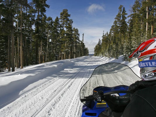 AP A WY USA Snowmobile Trails