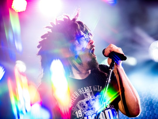 Adam Duritz of Counting Crows performs in 2015 in New