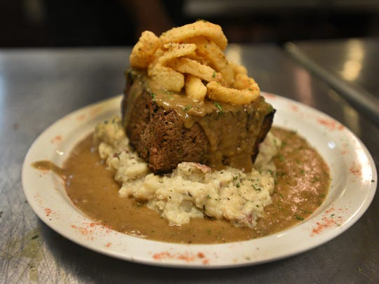 Meat loaf prepared by Crescent City Bistro owner Chef